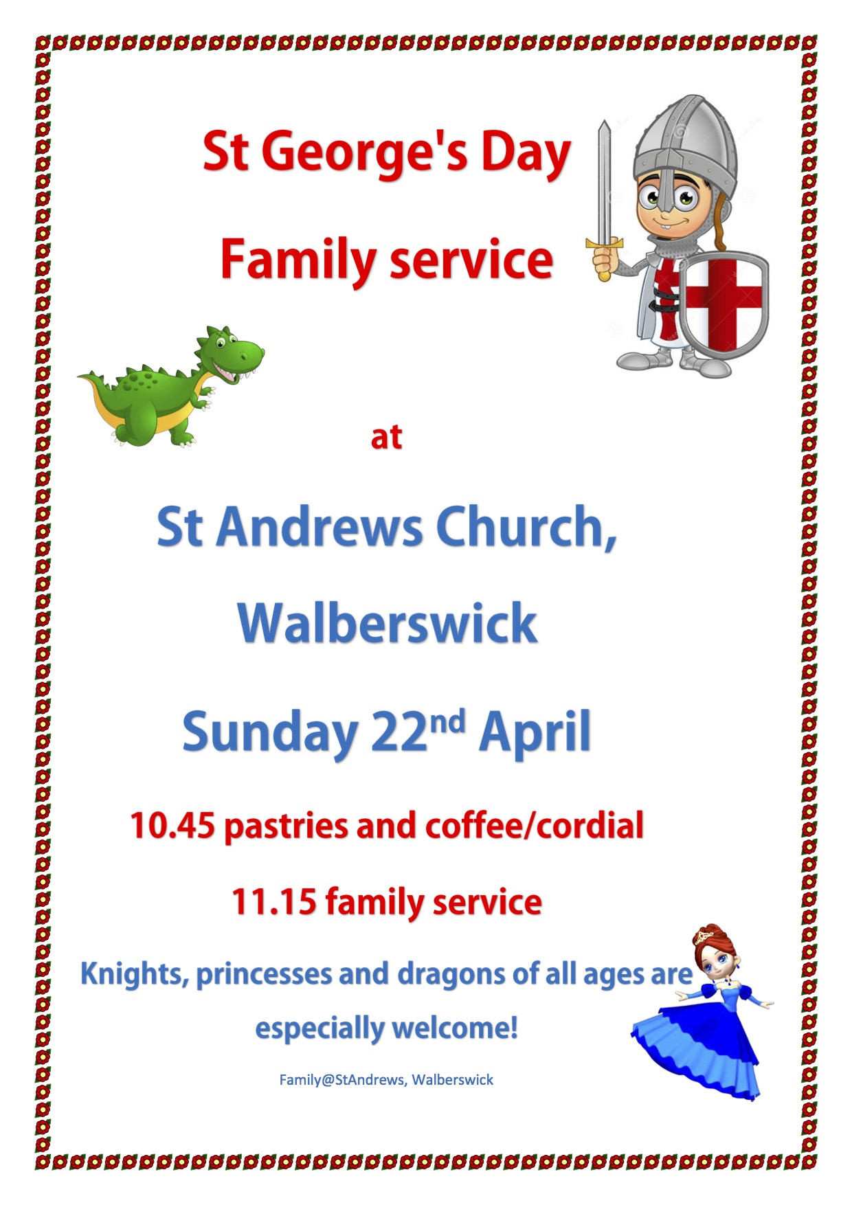 St George's Day at St Andrew's