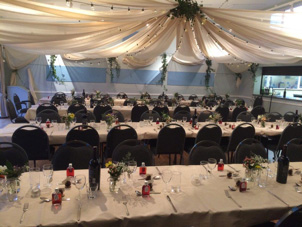 Tables set for a function